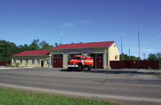 Пожарное депо на 3 автомобиля